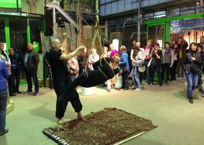 MW16 Shibari Live-Performance passend zur Kunst von Richard Rüger