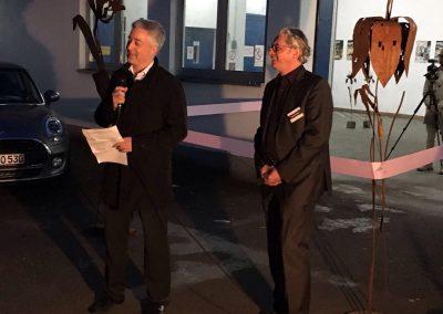 MW17 Opening – Ulrich Eymann (Geschäftsführer Main Echo) und Richard Rüger